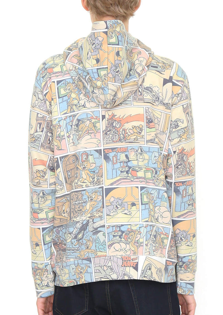 Tom and Jerry Long Sleeve Zip Hoodie (Tom and Jerry_Vintage Comic Pattern)