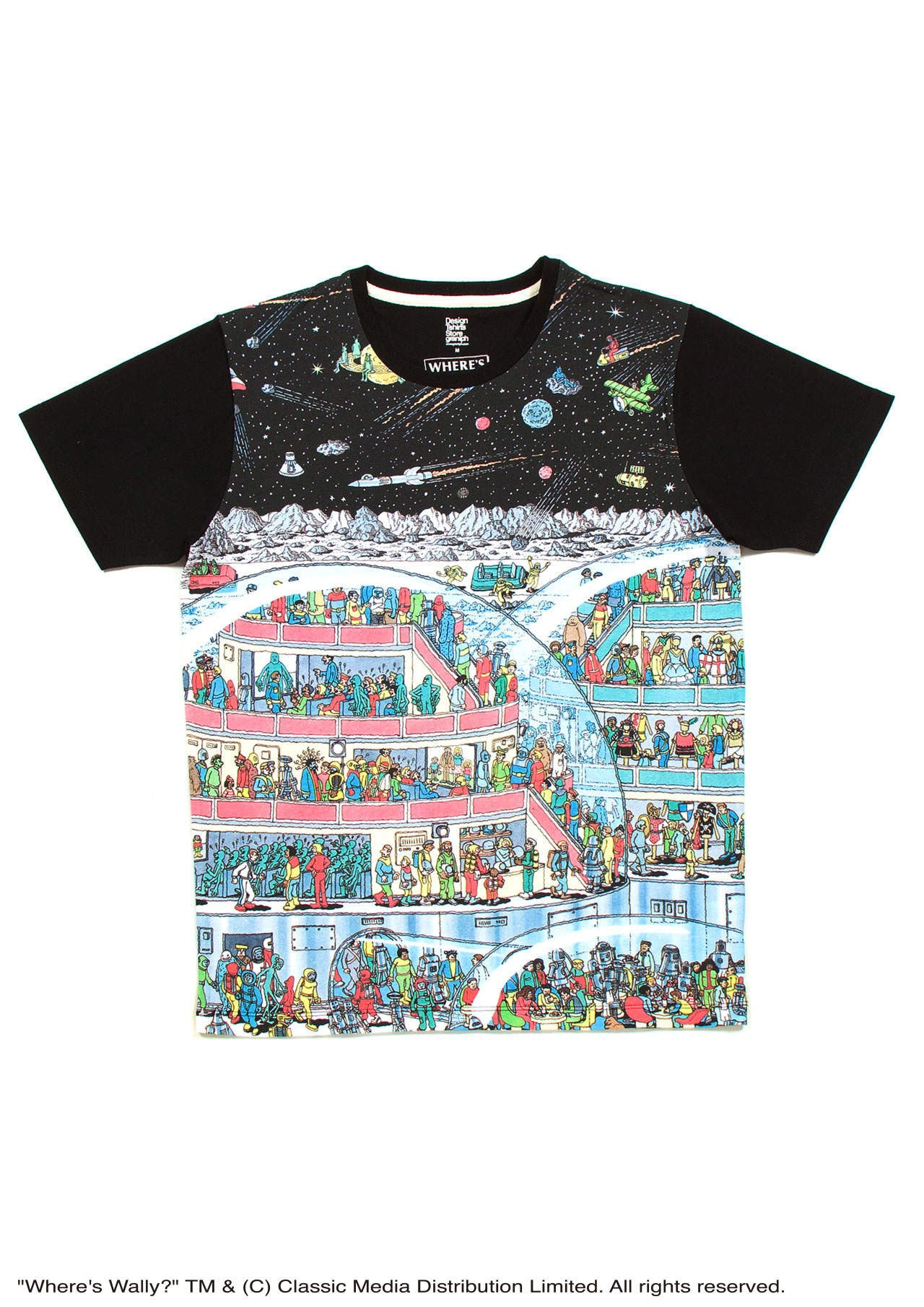 Where s Wally Short Sleeve(Space Wally) – Design Tshirts Store graniph 100e117cc
