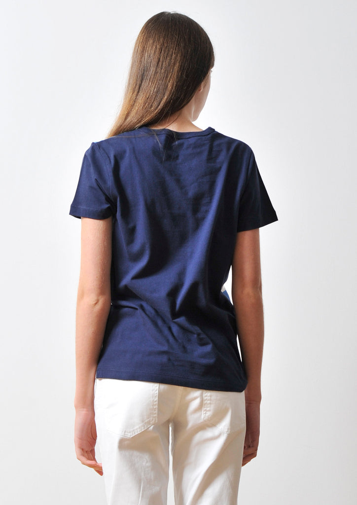 Denim Border Short Sleeve(Navy)