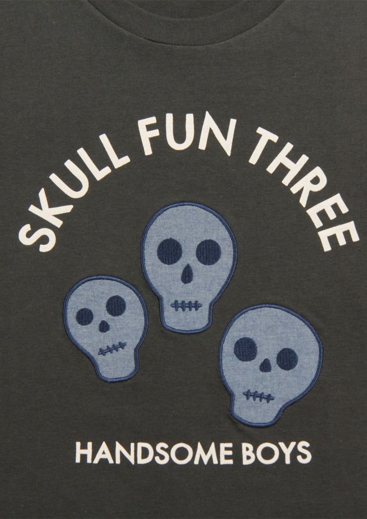 Chambray Short Sleeve Tee (Skull Fun Three)
