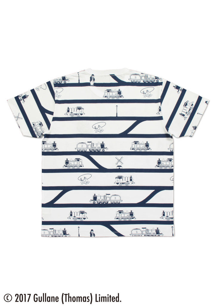 Railway Track Border (Thomas and Friends Short Sleeve Tee)