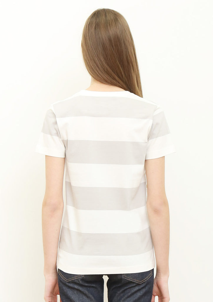 Wide Pitch Border Short Sleeve Tee (Tricolor Line Pocket)