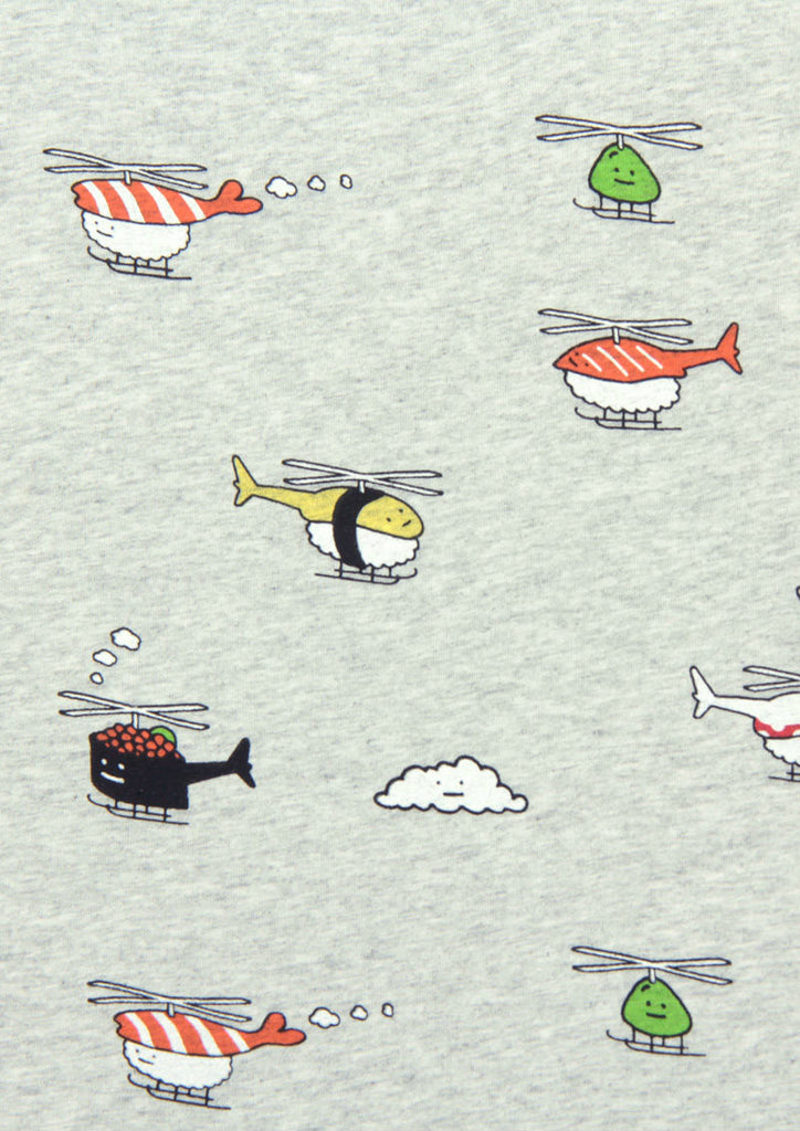 Multi Pattern Short Sleeve Tee C (Sushi Copter)
