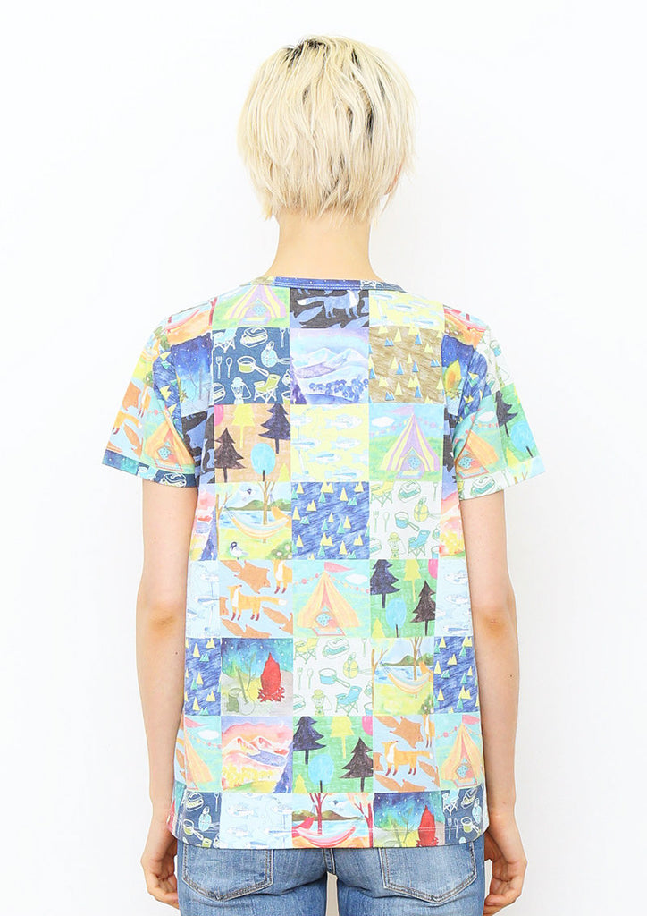 Soft Multi Pattern Short Sleeve Tee E (Patchwork of Camp)