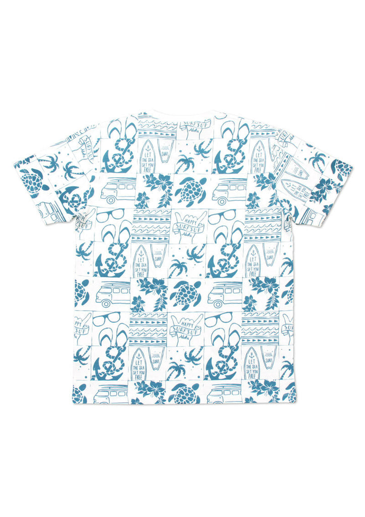 Multi Pattern Short Sleeve Tee D (Summer Culture)