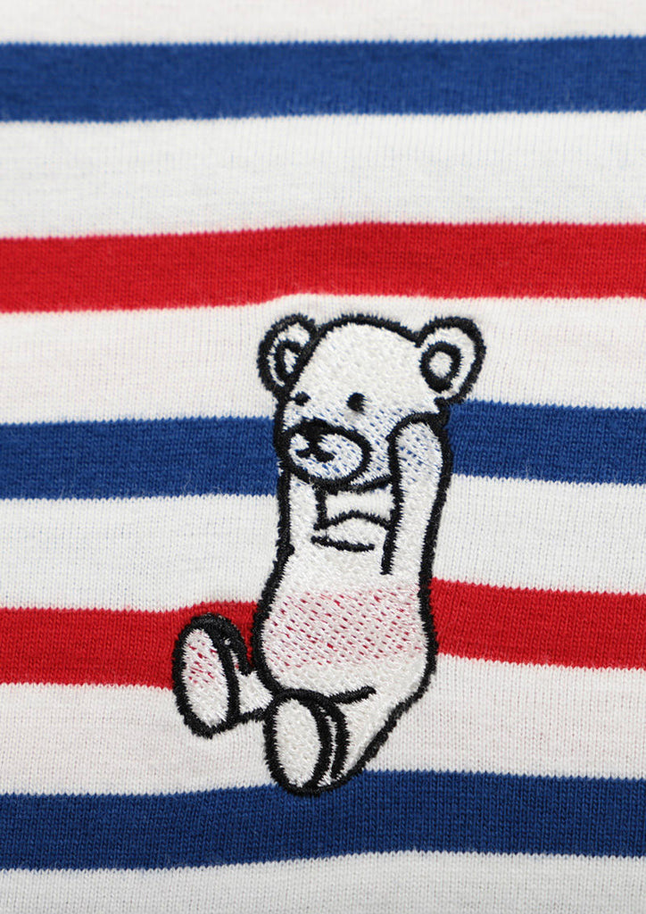 Tricolor Short Sleeve Tee (Control Bear)