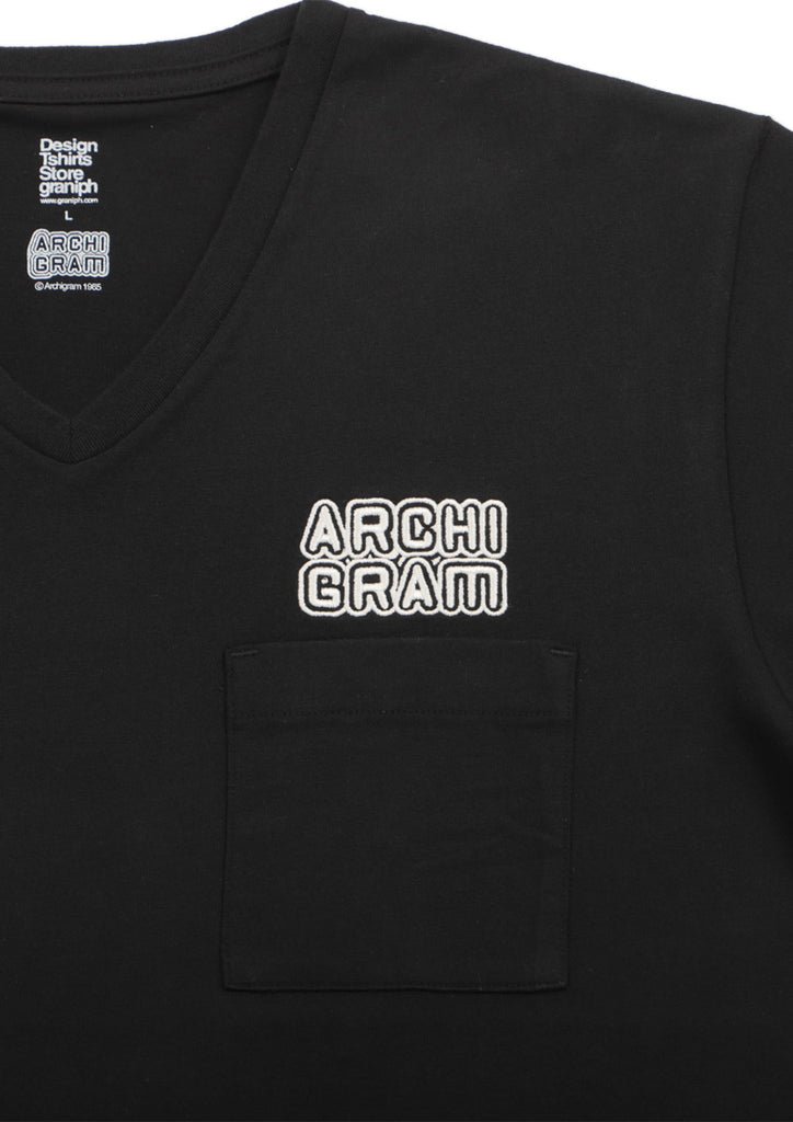 Archigram V Neck Short Sleeve Tee (Archigram_Archigram Logo)