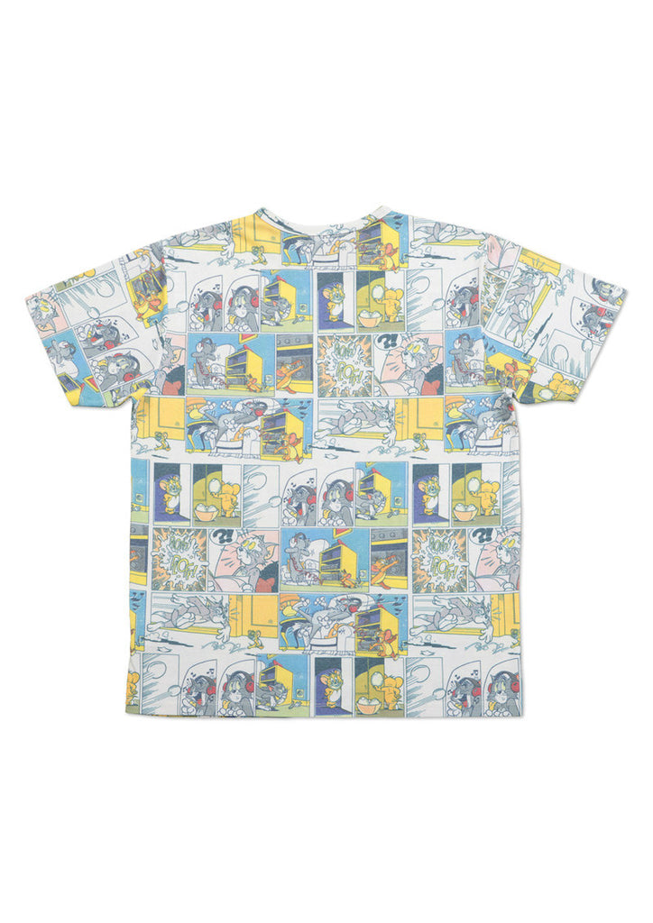 Tom and Jerry Short Sleeve Tee C (Comic Pattern)