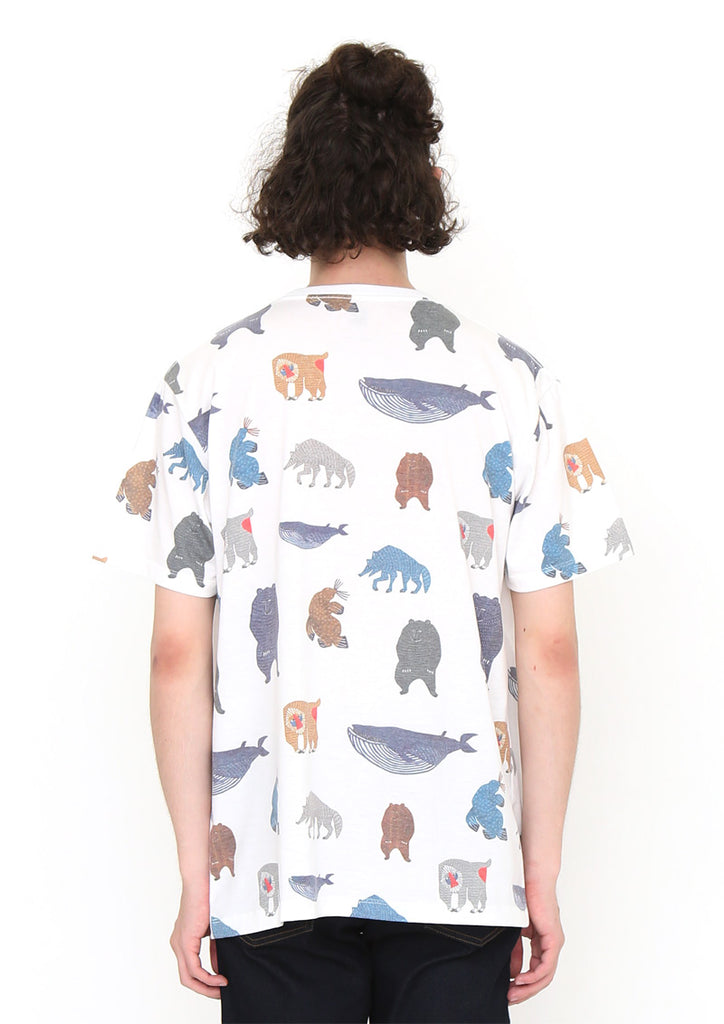 kata kata Short Sleeve Tee A (kata kata_Colorful Animal Pattern)