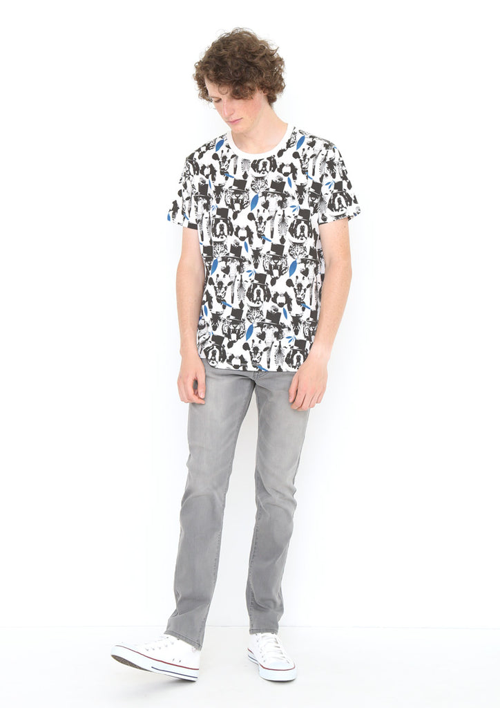 Multi Pattern Short Sleeve Tee (Animal Faces)