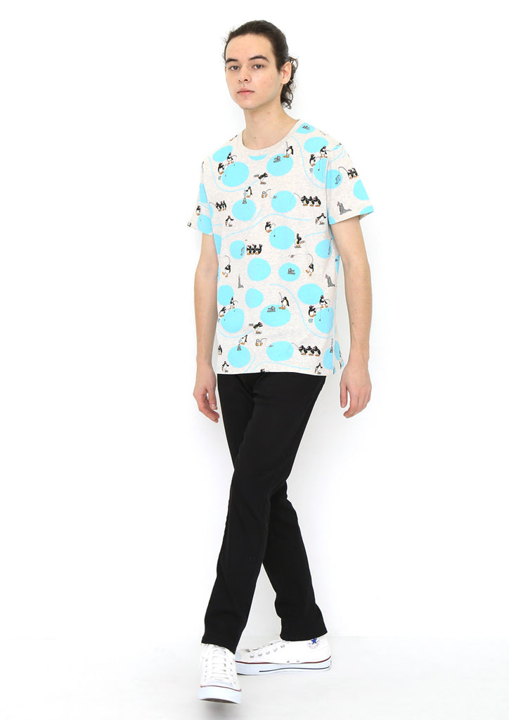 Pingu Multi Pattern Short Sleeve Tee (Pingu_Winter Play)