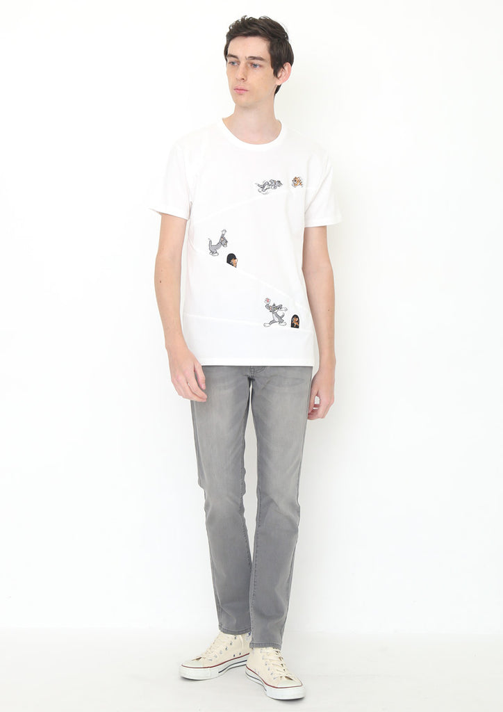 Tom and Jerry Short Sleeve Tee (Tom and Jerry_Slope Chase)