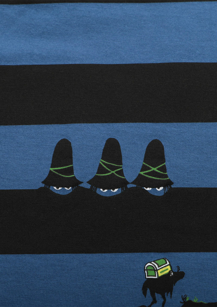 Tomi Ungerer Multi Pattern Short Sleeve Tee (Tomi Ungerer_The Three Robbers Stripes)
