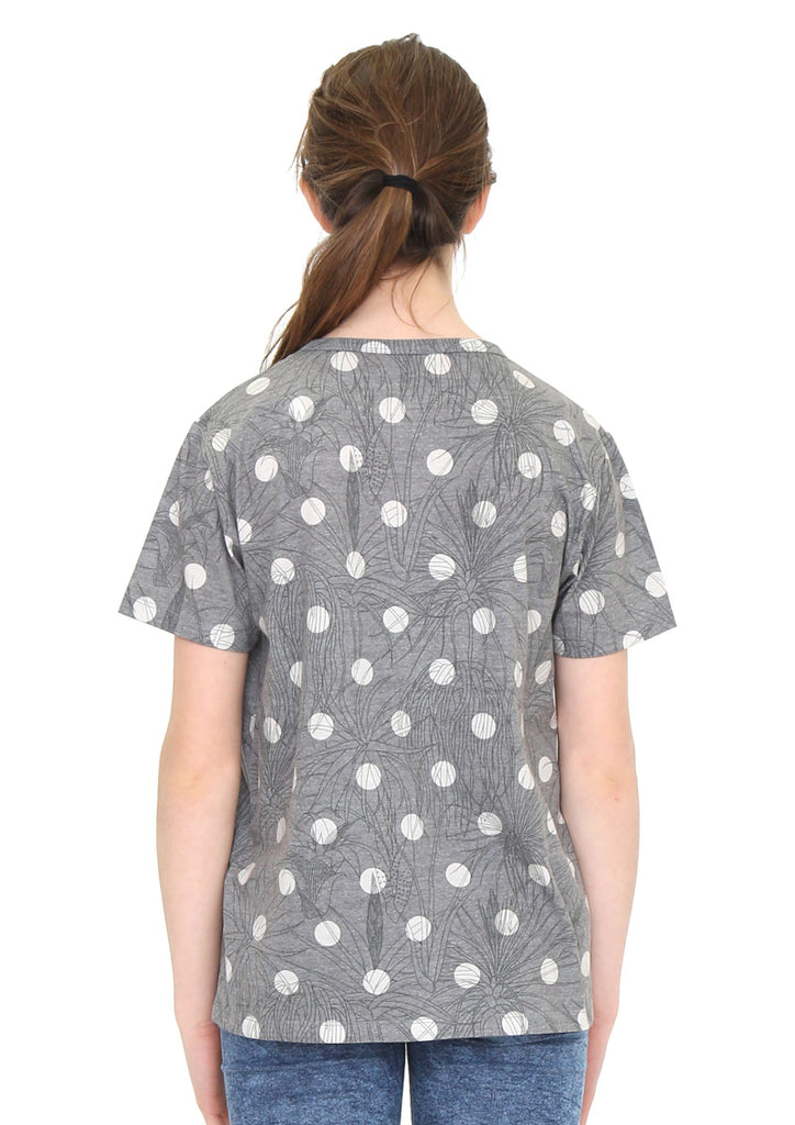 Soft Multi Pattern Short Sleeve Tee C (Air Plants with Dots)