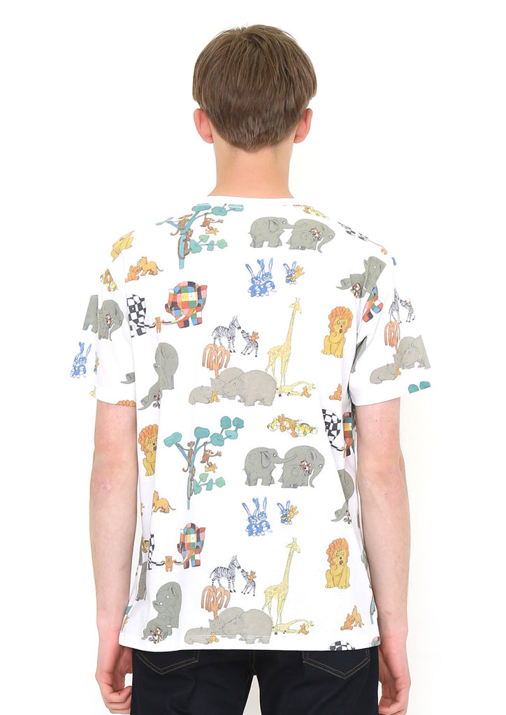 ELMER THE PATCHWORK ELEPHANT Multi Pattern Short Sleeve Tee (ELMER THE PATCHWORK ELEPHANT_Lost Teddy Pattern)