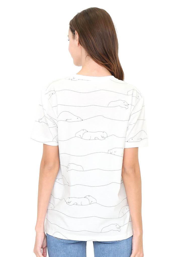 Multi Pattern Short Sleeve Tee F (Sleeping Polarbears)