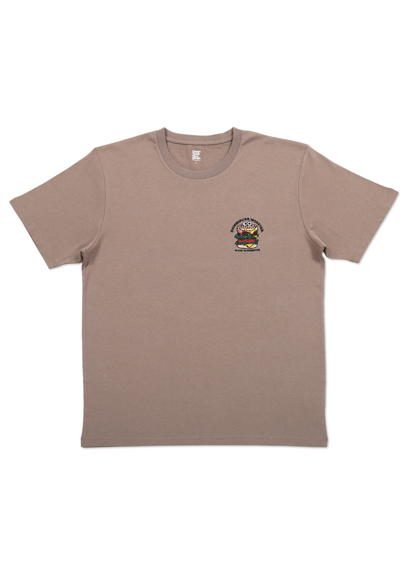 Embroidery Short Sleeve Tee (Burger Monster)