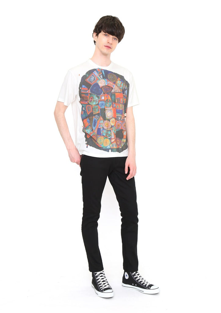 Hundertwasser Short Sleeve Tee (Hundertwasser_170 The Garden of the Happy Dead)