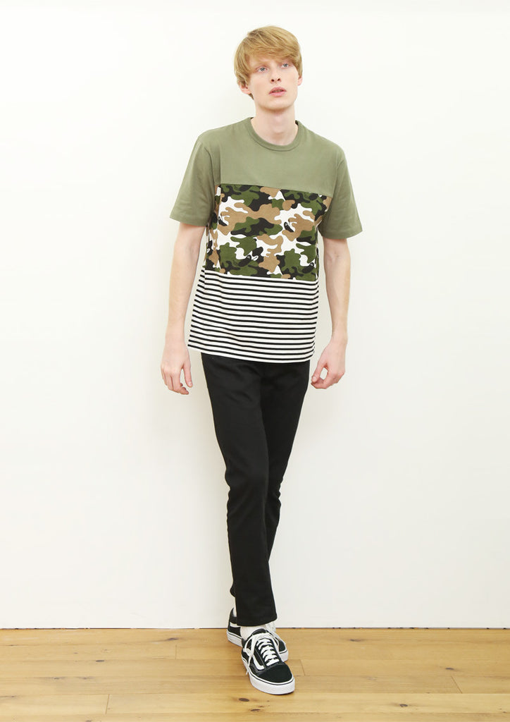 3 Panel Short Sleeve Tee (BS Camouflage)