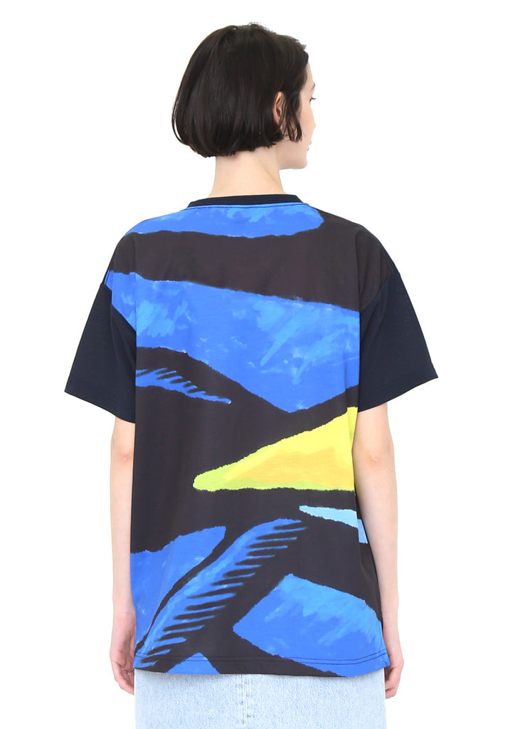 Dry Mix Back Fish Short Sleeve Tee (Tropical Fish Fantasy 01)