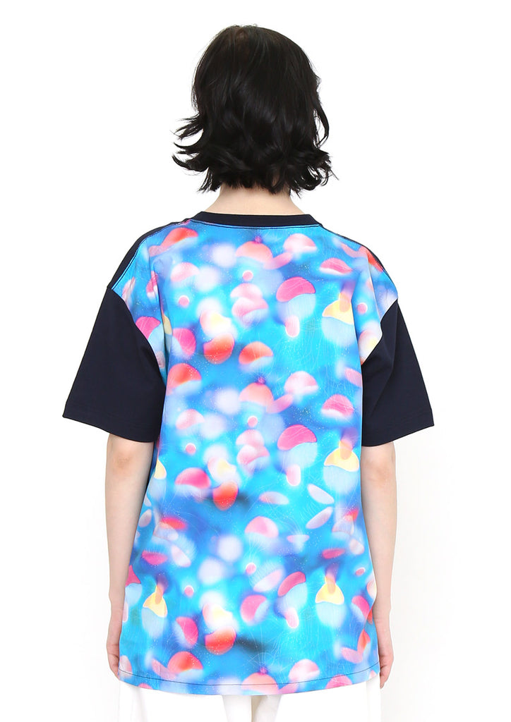 Back Multi pattern Short Sleeve Tee (Floating Jellyfish)