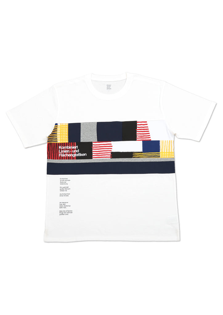 Patchwork Panel Short Sleeve Tee (Line and Face)