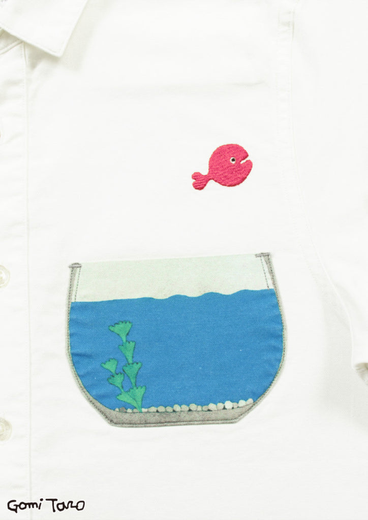 Kingyo ga Nigeta Fish Bowl (Taro Gomi Short Sleeve Shirt A)