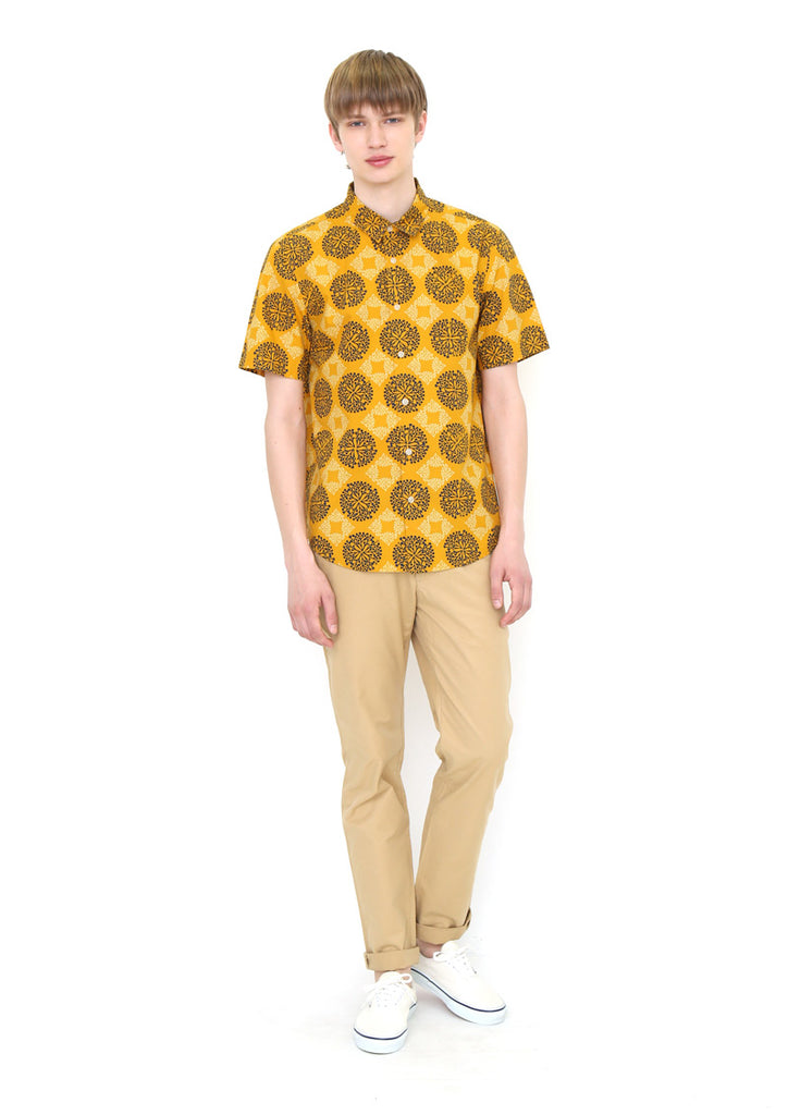 Multi Pattern Short Sleeve Shirt (Circles of Branches)