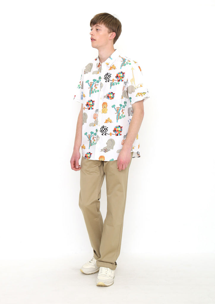 ELMER THE PATCHWORK ELEPHANT Short Sleeve Shirt A (ELMER THE PATCHWORK ELEPHANT_Lost Teddy Pattern)