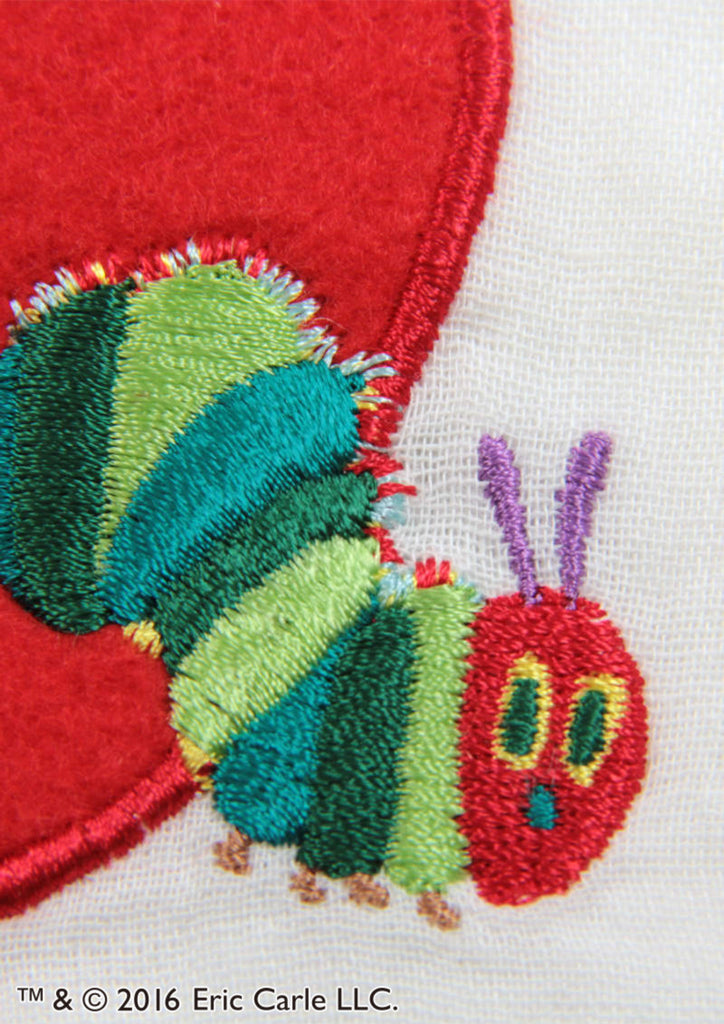 Red Apple Embroidery (Eric Carle Double Gauze Long Sleeve Shirt)