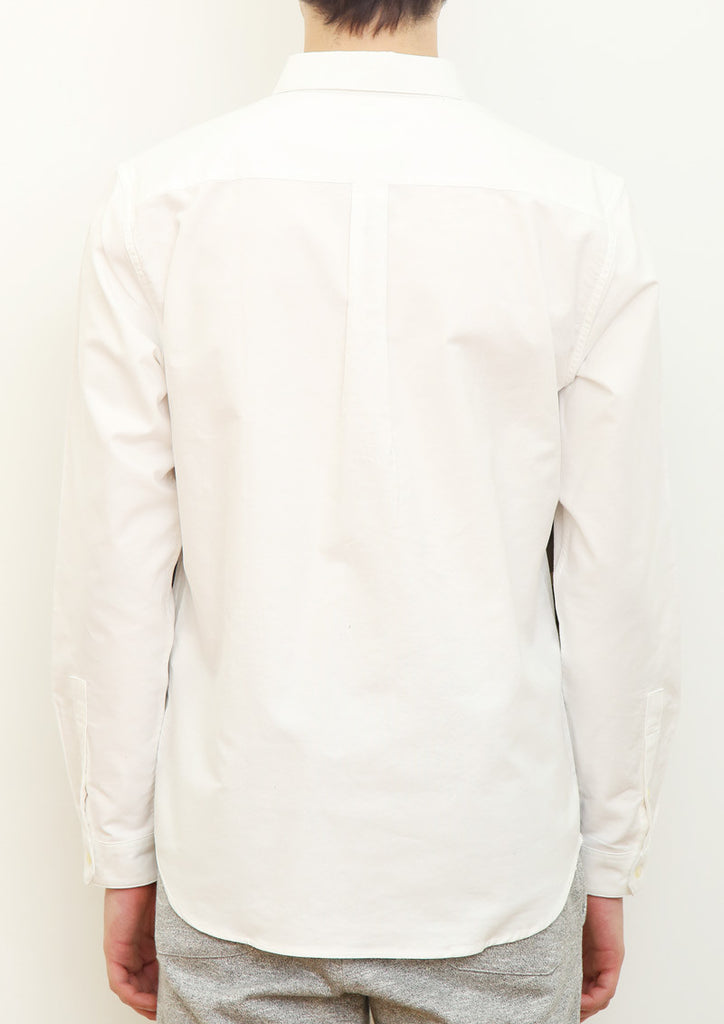 Patchwork Long Sleeve Shirt (White)
