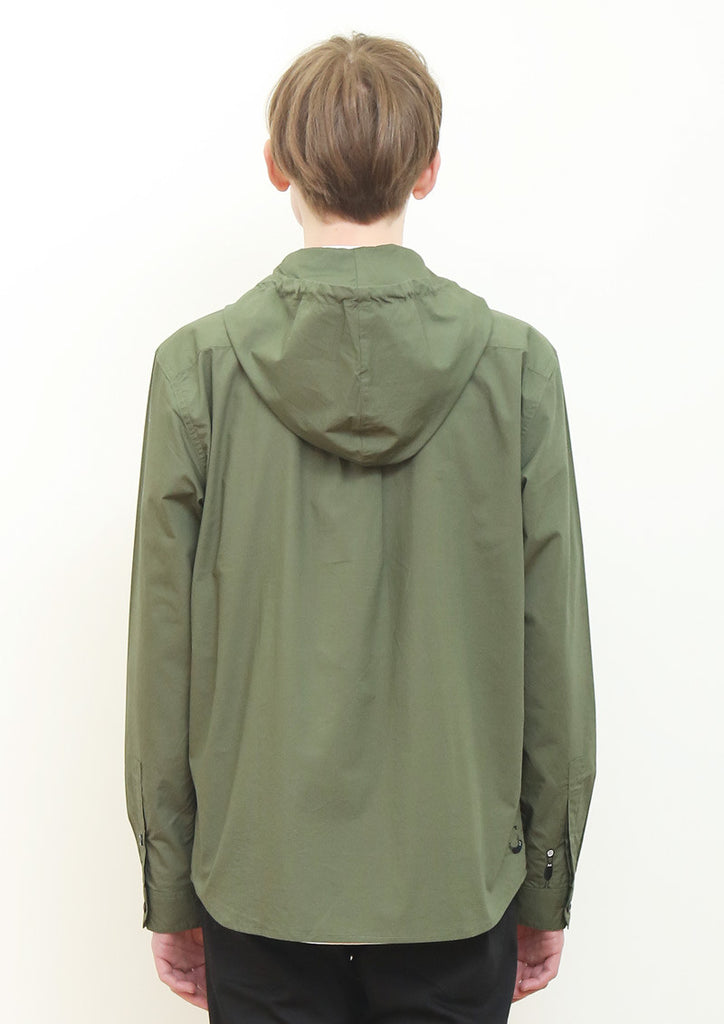 Long Sleeve Hooded Shirt (Push The Pocket BS)