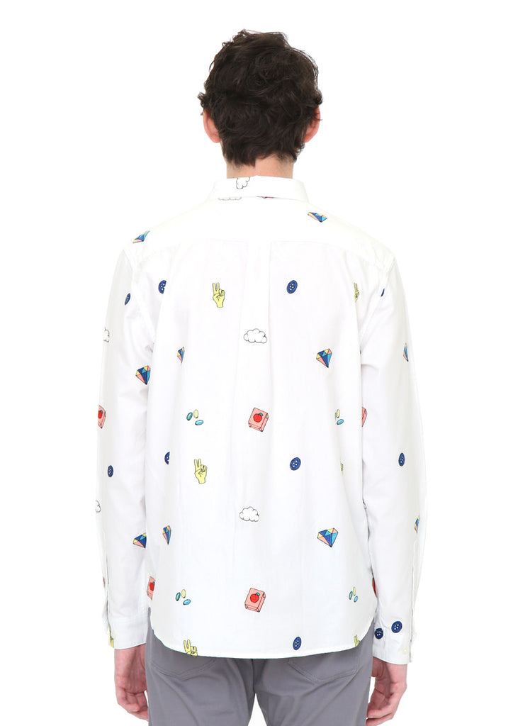Embroidery Pattern Long Sleeve Shirt (More Culture)