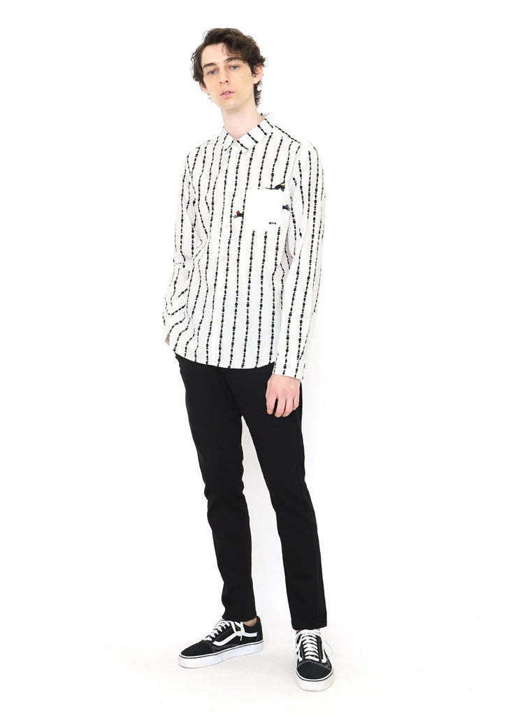 Graphic Long Sleeve Shirt (Fish Stripe)