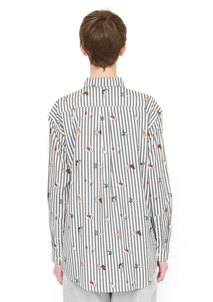 Yeah Yeah Chloe Loose Fit Long Sleeve Shirt (Yeah Yeah Chloe_Art Pattern)