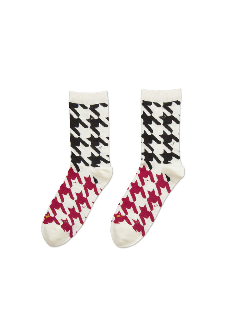 Middle Socks B (Houndstooth Shadow)
