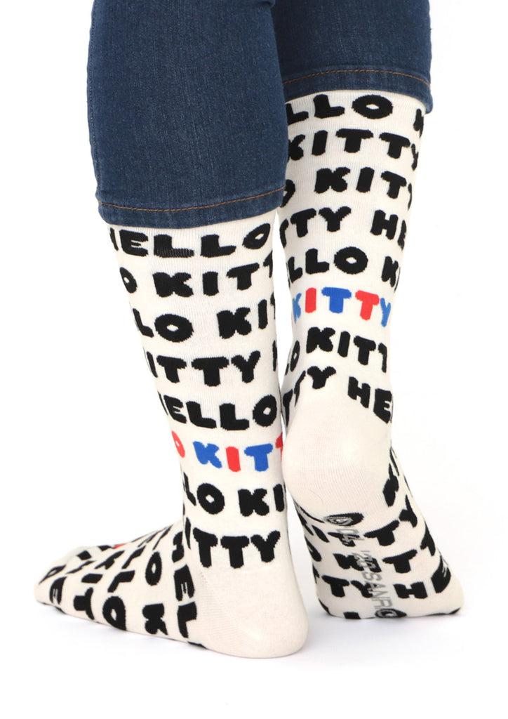 Sanrio characters Long Socks (Sanrio characters_Hello Kitty Logo Pattern)