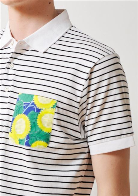 Sunflower World Short Sleeve Polo Shirt (White)