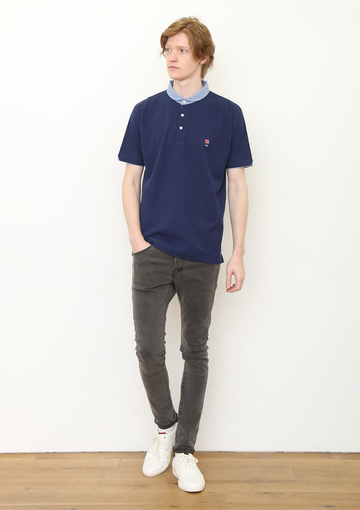 Seersucker Short Sleeve Polo Shirt (Union Jack Gentleman)