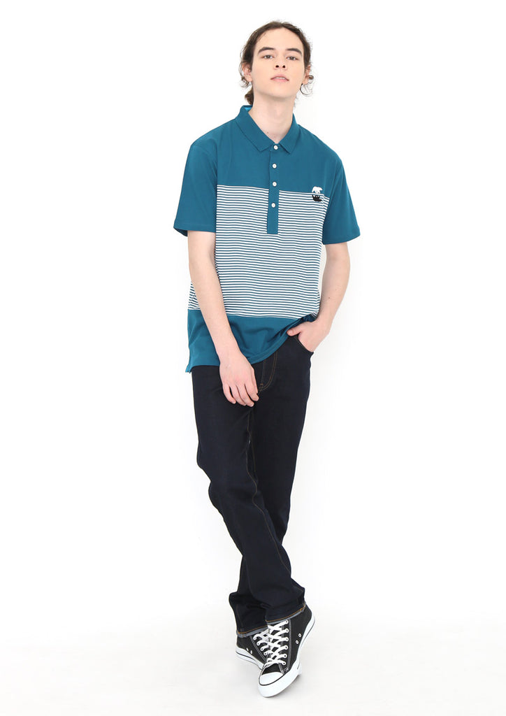 Boder Short Sleeve Polo Shirt (Mirroring Polar Bear)