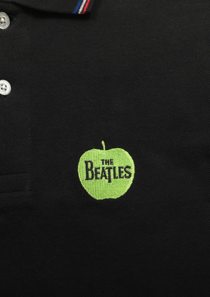 The Beatles Short Sleeve Polo Shirt (The Beatles_Green Apple Logo)