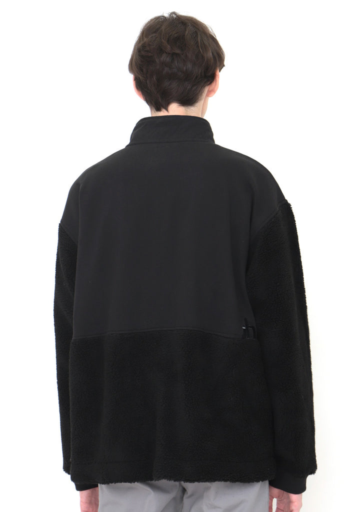 Mix Fabric Stand Collar Blouson (BS Chair)