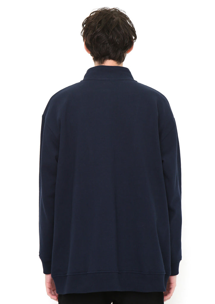 Stand Collar Wide Silhouette Blouson (BS Dot)