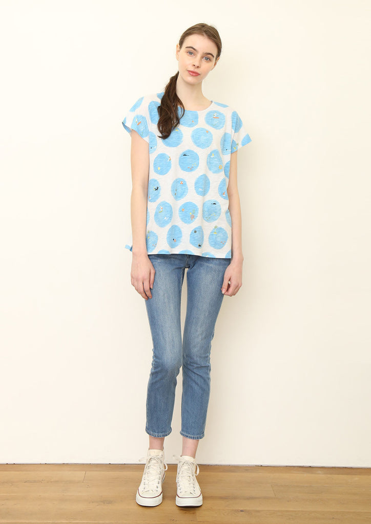 Slab A Line Short Sleeve Tee (Water Dot)