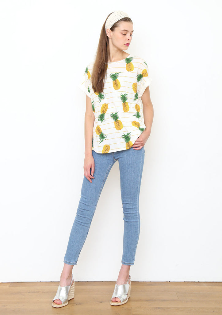 Roll Up Short Sleeve Tee (Pineapple Field)