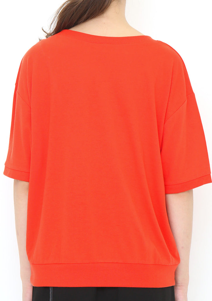 Boat Neck Drop Shoulder Tee (Two Keys)