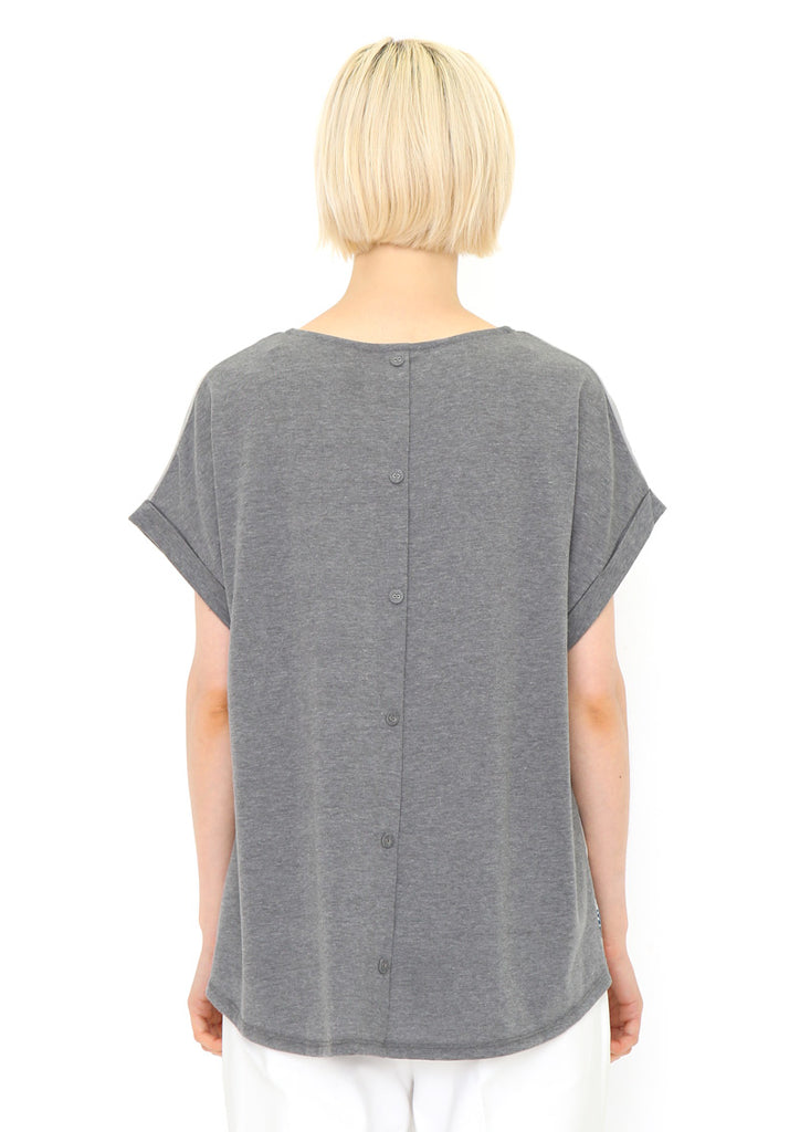 Back Button Tee F (Manta)