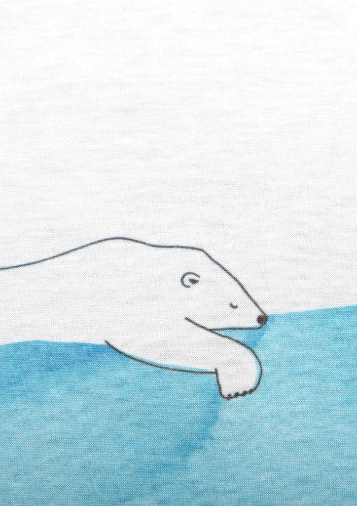 Round Neck Box Tee (Tired Polar Bears)