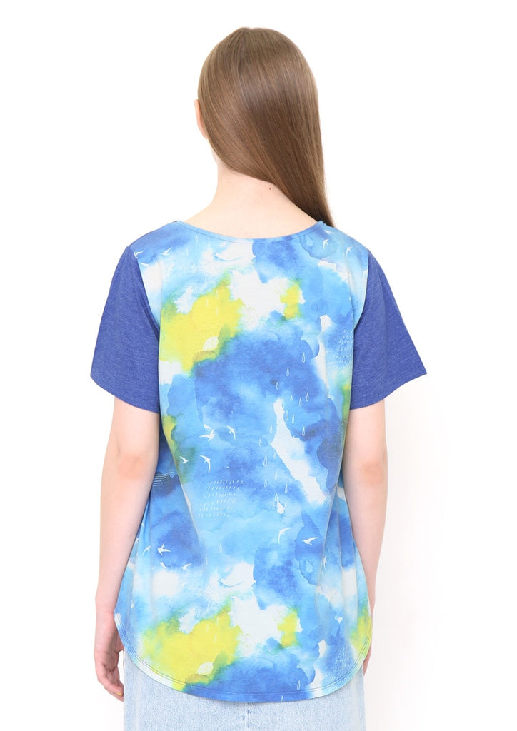 A Line Short Sleeve Tee (Sun Shower)