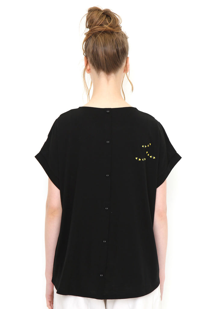 Back Button Tee (I am Here)